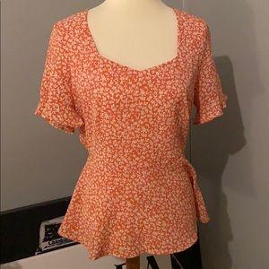 Monteau orange blouse